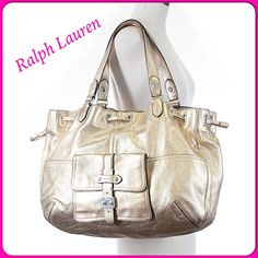 Spectacular Large Leather Ralph Lauren Bag
