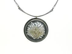 Coral Compass Necklace by Luana Coonen ~ sterling silver, fine silver, 14k gold, glass, polycarbonate, calcified algae ~ 2012