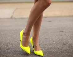 Love yellow shoes! #shoes #summer #fashion