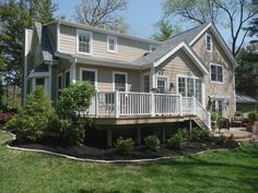 cement board siding | Khaki Brown James Hardie Siding Install, Deck Build and Bay Window ...