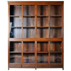 View this item and discover similar for sale at - This impressive British Colonial bookcase comes in two parts; both the top and bottom have two pairs of glass paned doors that open to compartments lined Dream Furniture, Classic Furniture, Unique Furniture, Furniture Design, Furniture Buyers, Diy Furniture, Antique Bookcase, Modern Bookcase, Bookcase Shelves