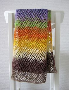 I love to wear scarves and with the arrival of spring weather, I wanted something lighter with drape to wear during the coming months. Since humidity is a large part of spring and summer in South-Western Ontario, I need a stitch pattern that would still look great, even if the scarf rolled or lost its blocking. Once I discovered this strong graphical stitch in Charted Knitting Design: A Third Treasury of Knitting Patterns by Barbara Walker, I knew I had a winner.