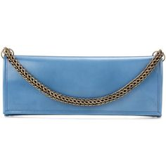 Vetements X Eastpak Leather Clutch (230,650 INR) ❤ liked on Polyvore featuring bags, handbags, clutches, blue, blue leather handbags, 100 leather handbags, real leather handbags, leather handbags and blue leather purse