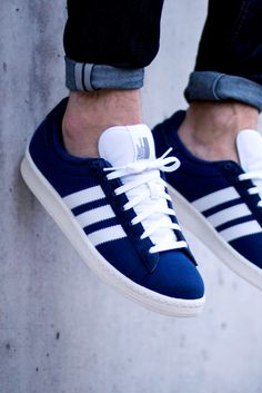 "unstablefragments2: "" adidas x Bedwin Campus 80s 'Dark Blue' (via Kicks-daily.com) "" /// Find more adidas sneakers, here."