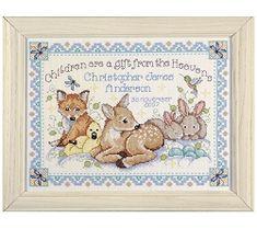 Woodland Baby Birth Sampler Cross Stitch 2431-DW
