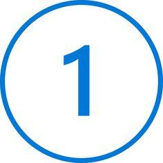 Velký modrý obrázek číslice 1