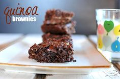 Quinoa Brownies -- shhhh! My husband raved about these, but had no idea there was quinoa and butternut squash inside!