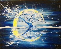 Join us at Pinot's Palette - Broken Arrow on Thu Dec 2017 for Midwinter Solstice. Seats are limited, reserve yours today! Winter Painting, Love Painting, Light Painting, Acrylic Painting Tips, Acrylic Canvas, Cool Paintings, Landscape Paintings, Canvas Paintings, Paint And Drink