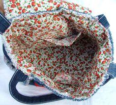 VENTE Denim et patchwork de dentelle sac à par poppypatchwork