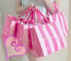 victoria secret pink bags. Yup! I collect them too :)