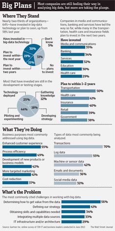 Big Data - Big Plans #infografia #infographic #internet