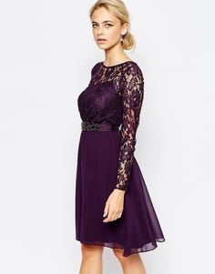 Fall Wedding Guest Dresses | Dress for the Wedding Deep Purple and lace