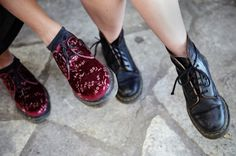 caught up with Icona Pop at SXSW and talked about Girls, boys, fashion, and friendship. Icona Pop, My Love Song, Pop Bands, Cute Shoes, Boys, Girls, Combat Boots, Interview, Oxford Shoes