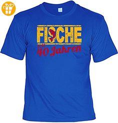 T-Shirt - Sternzeichen-Shirt Fische seit 40 Jahren - das besondere Shirt mit lustigem Print als ideales Geburtstagsgeschenk für Leute mit Humor (*Partner-Link)