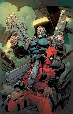 Deadpool and Cable by REILLY BROWN