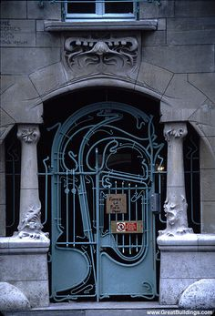 Art Nouveau doors- Castel Beranger in Paris, by architect, Hector Guimard