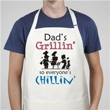 Grillin' and Chillin' Personalized BBQ Aprons