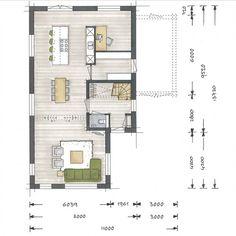 Villa Aurelia Plus - Architectuurwonen European House Plans, Modern House Plans, Small Floor Plans, House Floor Plans, Chalet Design, House Design, Villa, Haus Am Hang, Craftsman Floor Plans