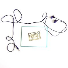 Mix Cassette Tape love card in gold foil. Check it out here at Hello Sweet Grace! http://etsy.me/2pmmOv1