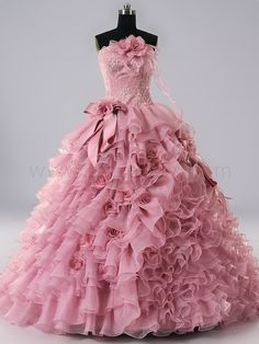 Pink Strapless Quinceanera Dresses   Price $442.99 #asapbay