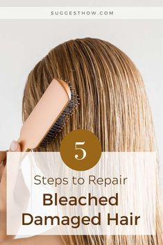 How to Repair Bleached Damaged Hair 5 Easy Steps . How to Repair Ble Damaged Hair Repair Diy, Hair Masks For Dry Damaged Hair, Bleach Damaged Hair, Bleached Hair Repair, Bleaching Your Hair, Treatment For Bleached Hair, Hair Treatment At Home, Hair Treatments, Damaged Hair Treatment