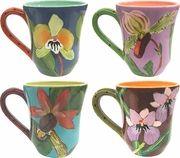 Droll Designs Harmony Orchid - Mug Set of 4