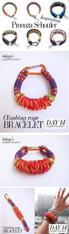 365 craft x charity: Day 14 - Climbing Rope Bracelet