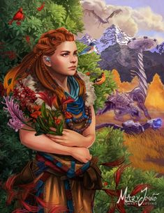 The Wild Future-Horizon Zero Dawn - PosterSpy V Games, Best Games, Video Games, Horizon Zero Dawn Aloy, Arte Sketchbook, Animation, God Of War, Cute Anime Couples, Female Characters