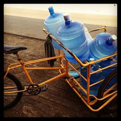 Drinking water delivery bike Water Delivery, Drinking Water, Bike, Instagram, Decor, Oaxaca, Bicycle, Decoration, Bicycles