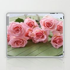 TAKE TIME TO SMELL THE ROSES Laptop & iPad Skin by Annie Koh - $25.00