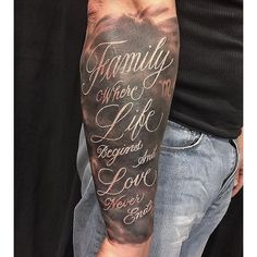 Done by artist Chris Lopez. Mens Full Sleeve Tattoo, Clock Tattoo Sleeve, Half Sleeve Tattoos Forearm, Inner Bicep Tattoo, Outer Forearm Tattoo, Skull Sleeve Tattoos, Best Sleeve Tattoos, Family Tattoo Designs, Family Tattoos