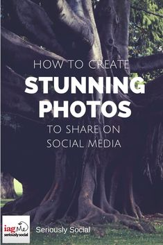 How to Create Stunning Photos and Images to share on Social Media. The web is becoming more visual day by day. With well-established websites like Twitter and Facebook supporting images in status updates and growing websites like Instagram, Google+ and Pinterest placing huge emphasis on great imagery, sharing attractive images is a must to boost your presence online. #socialmediatips