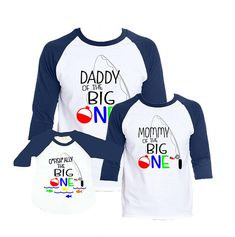 188b9bc7 Ofishally One Birthday Shirt The Big One Birthday Shirt Family Shirts Daddy  Of The Big One Mommy Of The Big One Raglan Family Shirts Mom Dad