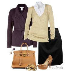 At the Office by archimedes16 on Polyvore featuring мода, Michael Kors, Paul & Joe, D&G, Jimmy Choo, Hermès, Kate Spade, CO-OP Barneys New York, oxford shirts and hermes