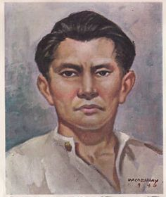 Diego Silang, a painting by Makabuhay, 1940. On December 16, 1730, Diego Silang , a revolutionary leader who conspired with British forces against Spanish rule, was born in Pangasinan province to Miguel Silang, native of Pangasinan and of Nicolasa de los Santos, of Nueva Segovia (Vigan), both of whom being of the principalia class. He was baptised in the town of Vigan, January 7, 1731. His baptismal name was Diego Baltazar, and his god-father was a principal named Tomas de Endaya.