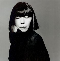 Rei Kawakubo (1942) - Japanese fashion designer, founder of Comme des Garçons. Photo by Irving Penn