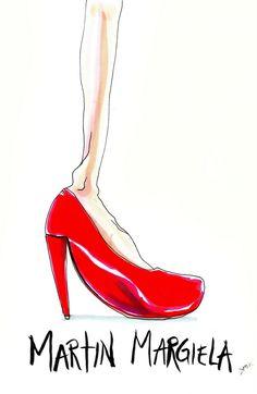 Martin Margiela Shoe Illustration