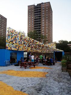 Urban Omnibus » Paths to Pier 42 / Shade structure designed be Leroy Street Studio   Photo courtesy of Hester Street Collaborative