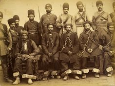 A group of prisoners and guards from Qajar, Iran. #Islam #Sufism #Spirituality #Mysticism #God #Religion #Allah