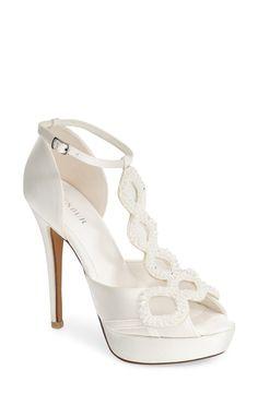 'Rita' Satin Platform Sandal (Women)