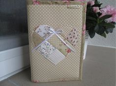 BK-moda / obal na knihu patchwork srdiečko ružové