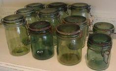 Weck pot weckpot groen glas Frankrijk origineel prijsper pot
