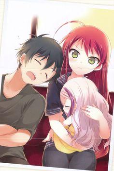 Find images and videos about anime, hataraku maou-sama and hataraku maou-sama! Manga Anime, Anime Art, Anime Love, Anime Guys, Devil Part Timer, Hataraku Maou Sama, Familia Anime, Natsume Yuujinchou, Cute Family