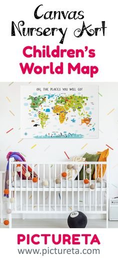 Kids world map decal kids bedrooms pinterest dr seuss nursery oh the places youll go world map for gumiabroncs Choice Image