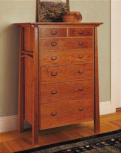 AC-D6 - American Bungalow 6-Drawer Dresser with Doors, cherry $8,275.00 : Thos. Moser