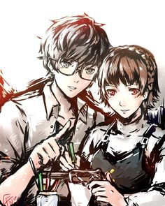 Let's spend time together afterschool, you can teach me yours ways and I will teach you mine. Persona 5 Makoto, Persona 5 Anime, Persona 5 Joker, Jojo Anime, Anime Love, Persona Crossover, Makoto Niijima, Shin Megami Tensei Persona, How To Make Comics