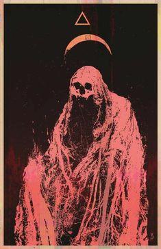 The Death is a cold missus with the face of a skull 💀 (SkuLLivan) Arte Horror, Horror Art, Dark Fantasy, Fantasy Art, Art Macabre, Art Sinistre, Art Noir, Satanic Art, Arte Obscura