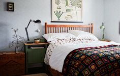 bed with space for baskets underneath for clothing - no extra furniture/space saving