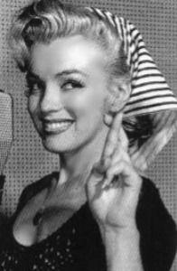 Marilyn being cute.