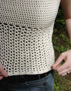 Tank Top - crocheted in the round - free pattern